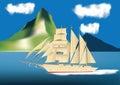 Sailing Ship Cruise Liner Royalty Free Stock Photo