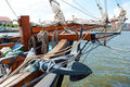 Sailing ship detail of a Stock Images