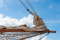 Sailing ship detail of a Stock Photos