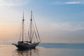 Sailing ship horizontal photo of a beautiful luxurious used for tour and sightseeing Stock Photo