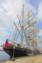 Sailing ship krusenshtern riga latvia circa july Stock Photography