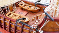 Sailing Ship model detail - hand made Royalty Free Stock Photo