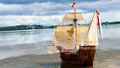 Sailing Ship model - hand made Santa Maria Royalty Free Stock Photo