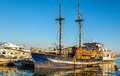 Sailing ship in Paphos Harbour Royalty Free Stock Photo