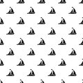 Sailing ship pattern, simple style