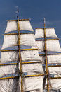 Sailing ship in port of kiel germany Royalty Free Stock Photography