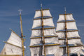 Sailing ship in port of kiel germany Stock Images