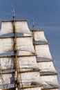 Sailing ship in port of kiel germany Stock Image