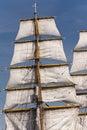 Sailing ship in port of kiel germany Stock Photos