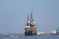 Sailing ship riga latvia jul gotheborg from sweden arrives in latvia during the tall ships races annual regatta shown on jul in Royalty Free Stock Photography