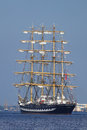 Sailing ship riga latvia jul kruzenshtern from russia arrives in latvia during the tall ships races annual regatta kruzenshtern Stock Image