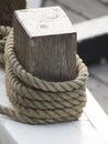 Sailing ship rope Royalty Free Stock Photo