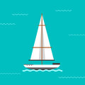 Sailing ship vector illustration.