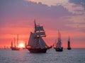 Sailing ships on the Baltic Sea Royalty Free Stock Photo