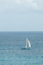 Sailing sloop in the caribbean ii a with masthead spinnaker Royalty Free Stock Photo