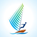 Sailing symbol, sport series Stock Photography