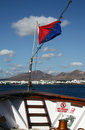 Sailing to the Lanzarote, Spain Stock Photo