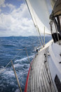 Sailing in the tropics Royalty Free Stock Photo