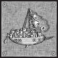 Sailing woodcut Royalty Free Stock Photo