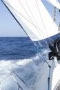 Sailing yacht full speed ahead Royalty Free Stock Photo