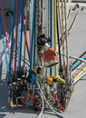 Sailing yacht lines ropes colourful detail Royalty Free Stock Photo