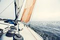 Sailing yacht on the race Royalty Free Stock Photo