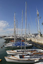 Sailing yachts in Herzliya Marina Royalty Free Stock Photo