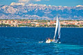 Sailing in Zadar waterfront summer view Royalty Free Stock Photo