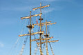 Sailling pirate ship sailing at sea in manavgat Royalty Free Stock Images