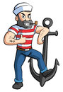 Sailor with Anchor Royalty Free Stock Photo