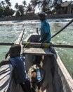Sailor on the boat in Zanzibar