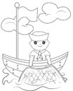 Sailor coloring page