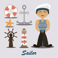 Sailor with a lighthouse