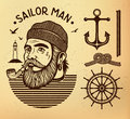 Sailor man with pipe Royalty Free Stock Photo