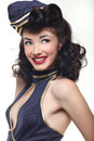 Sailor Pin Up Style Retro Girl Royalty Free Stock Photo