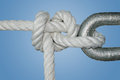 Sailor s knot the is easy and very useful round turn and two half hitches Stock Image