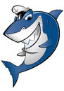 Sailor shark smiling with a cap Royalty Free Stock Photos