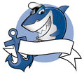 Sailor shark smiling with a cap Royalty Free Stock Photo