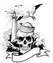 Sailor skull Royalty Free Stock Photo