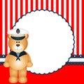 Sailor teddy bear background