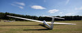Sailplane on an airfield Royalty Free Stock Photo