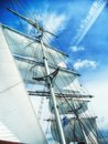 Sails, Mast And Ropes View Fro...