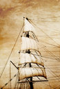 Sails on old paper Stock Image