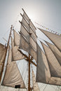 Sails of an old sailing ship Royalty Free Stock Photo