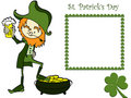 Sain patrick's day card Royalty Free Stock Photos