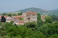 Saint amand france old town and castle in central massif auvergne Stock Image