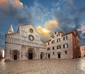 Saint Anastasia Cathedral. Zadar. Royalty Free Stock Photo