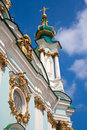 Saint andrew s church kiev ukraine Royalty Free Stock Photos