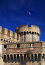 Saint angel castle and the mausoleum of hadrian in rome Royalty Free Stock Image