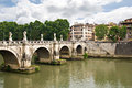 Saint Angelo Bridge in Rome Royalty Free Stock Photography